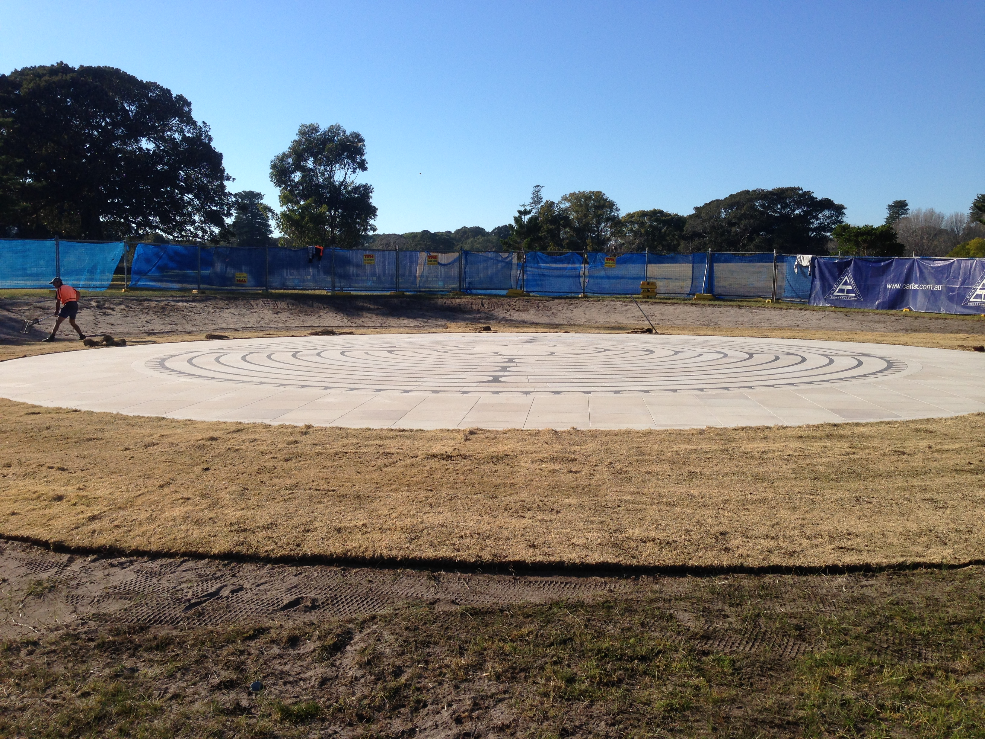 Turf laying 5th August